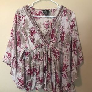 Angie Floral Boho Blouse